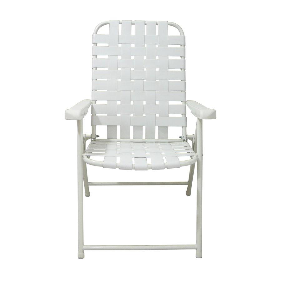 Garden Treasures White Steel Folding Patio Conversation Chair