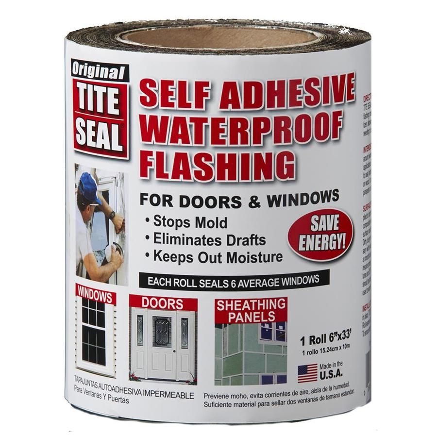 TITE-SEAL Self-Adhesive Waterproof 6-in x 33-ft Rubberized Asphalt Roll Flashing