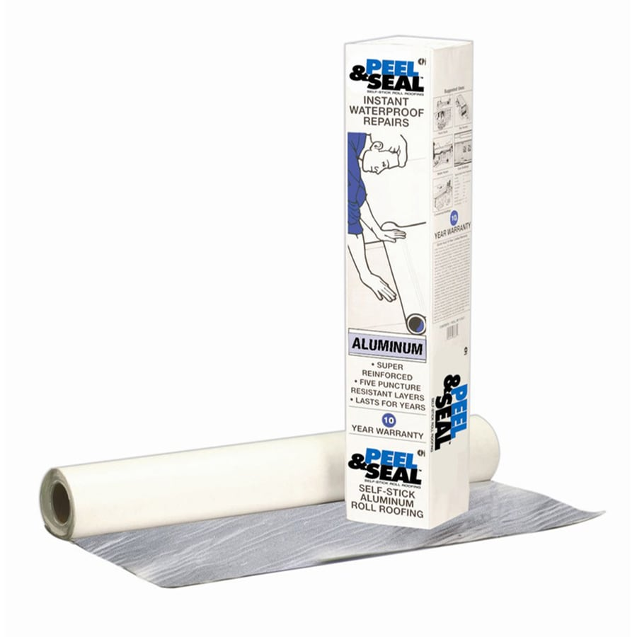 Peel & Seal Instant Waterproof Repairs 3-ft W x 33.5-ft L 100-sq ft Aluminum Roll Roofing