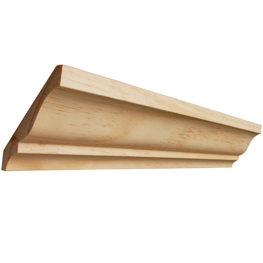 EverTrue 3.625-in x 8-ft Pine Crown Moulding