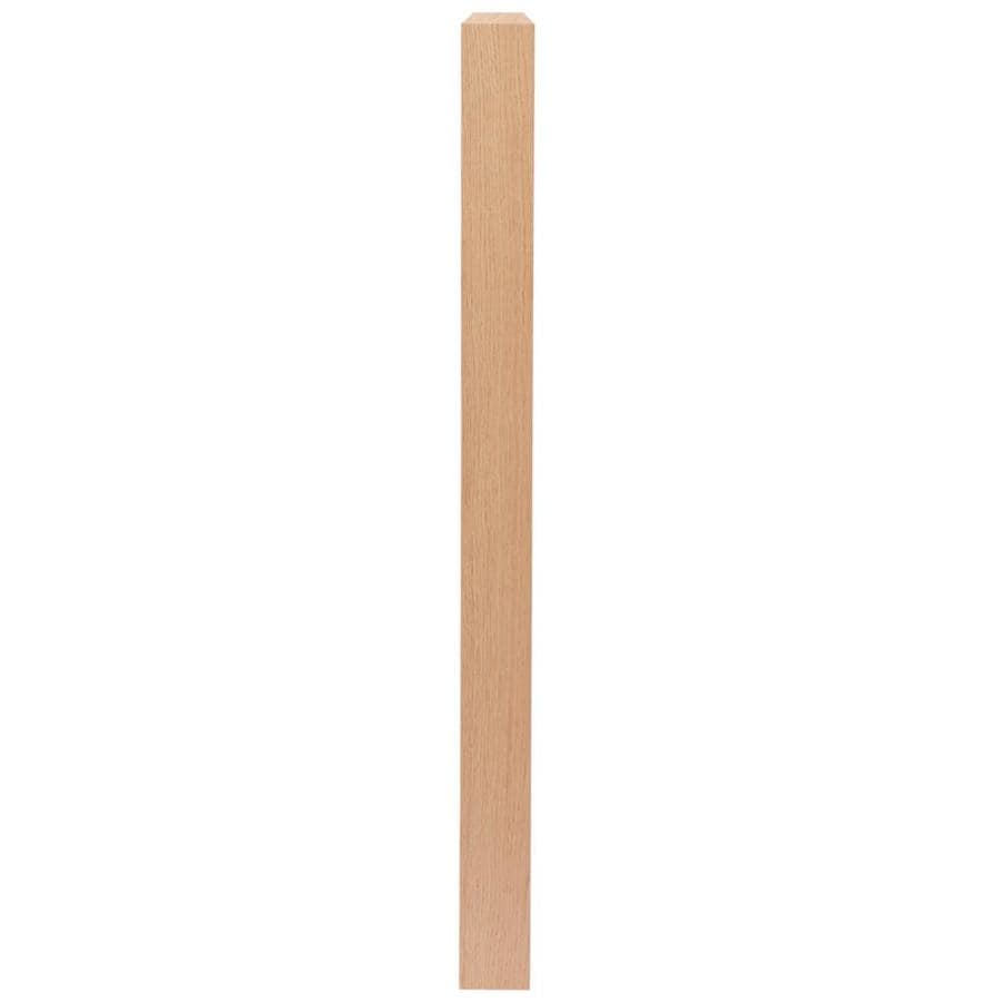 Creative Stair Parts 3.5-in x 48-in Raw Unfinished Red Oak Wood Stair Newel Post