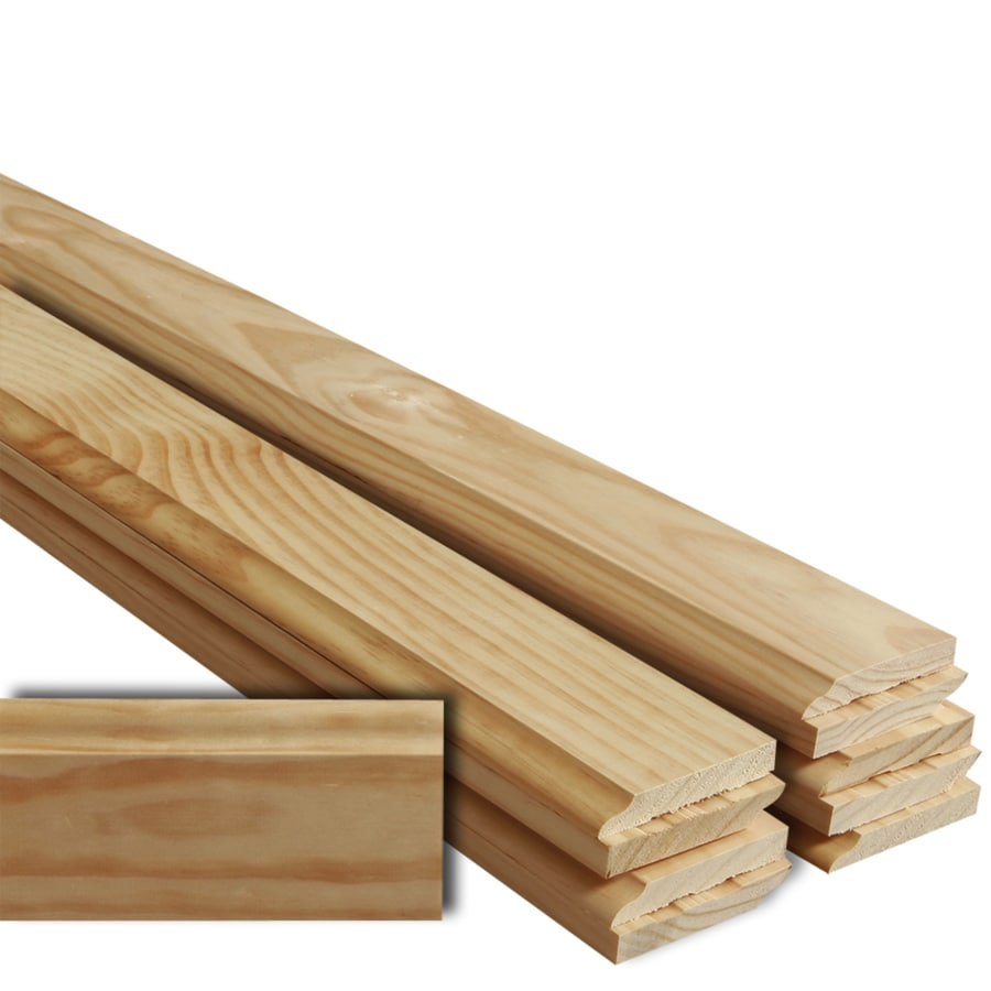 EverTrue 10-Pack 3.5-in x 12-ft Interior Pine Baseboard