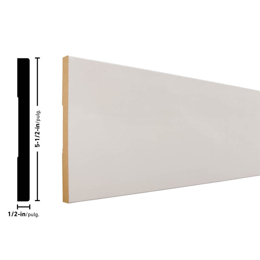 EverTrue 5.5-in x 12-ft Interior MF Baseboard