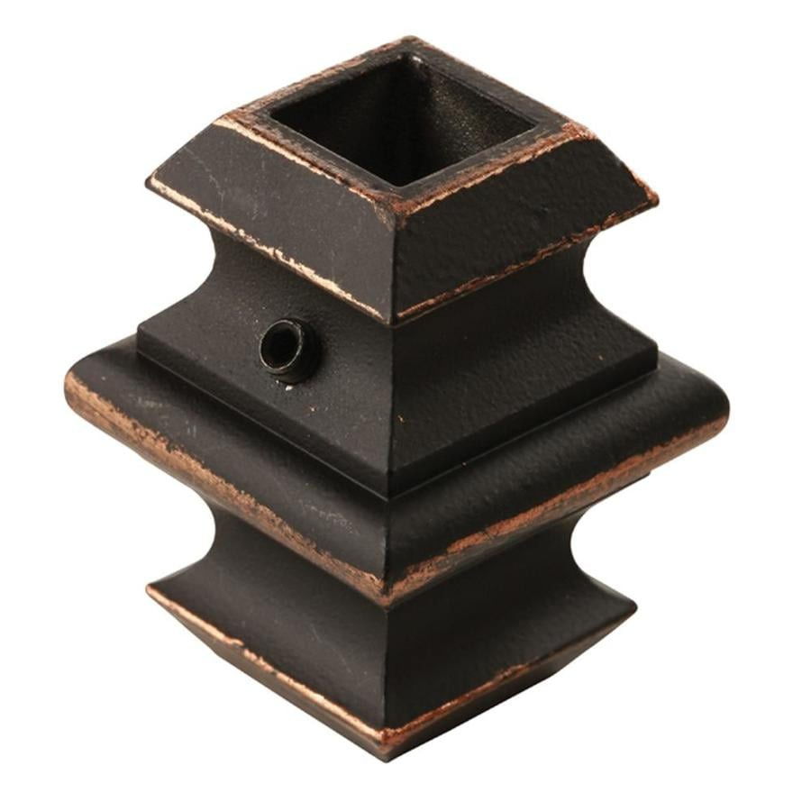 Creative Stair Parts Oil-Rubbed Copper Wrought Iron Baluster Knuckle
