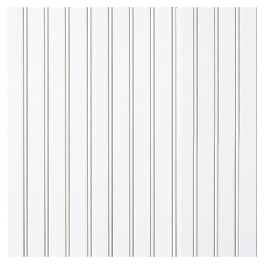 Empire Company 7.25-in x 8-ft Edge and Center Bead White MDF Wall Panel