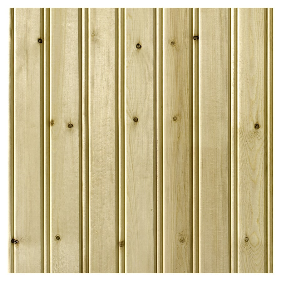 Empire Company 3.5625-in x 8-ft Edge and Center Bead Raw Pine Wood Wall Panel