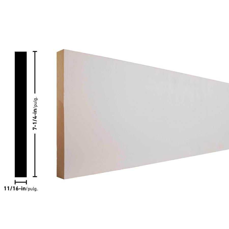EverTrue 7.25-in x 8-ft Interior Pine MF Baseboard