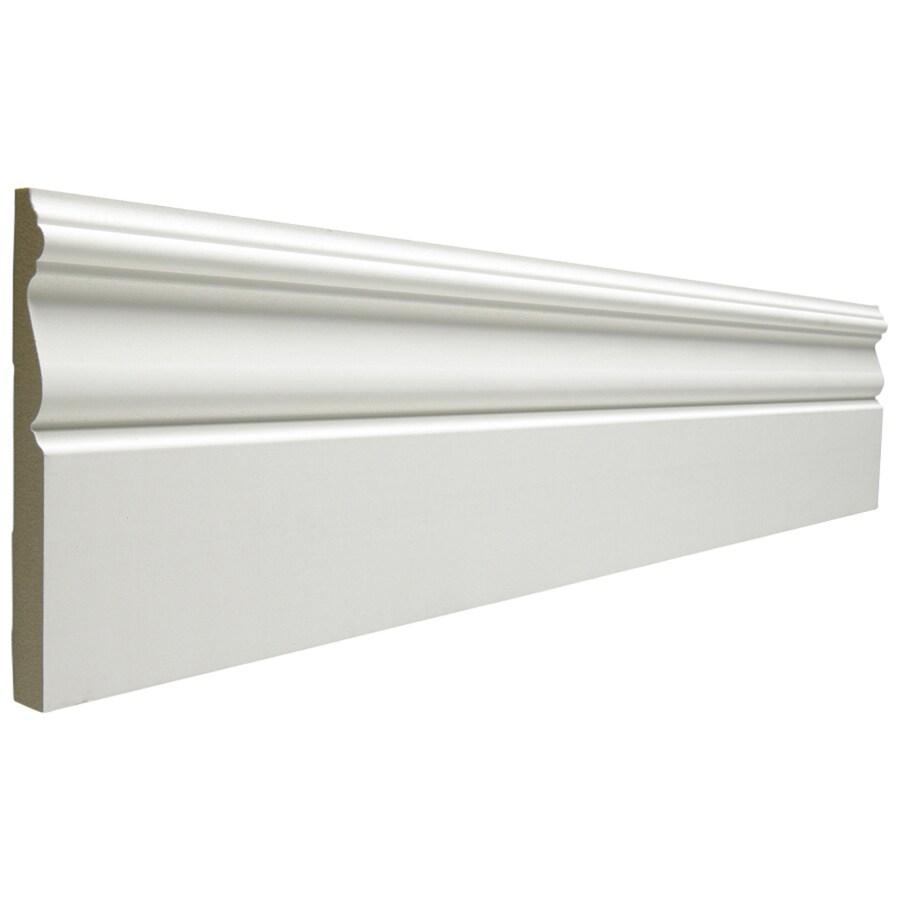 EverTrue 5.25-in x 12-ft Interior MF Baseboard