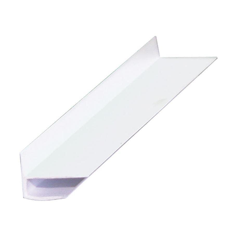 0.5-in x 96-in White Plastic Corner