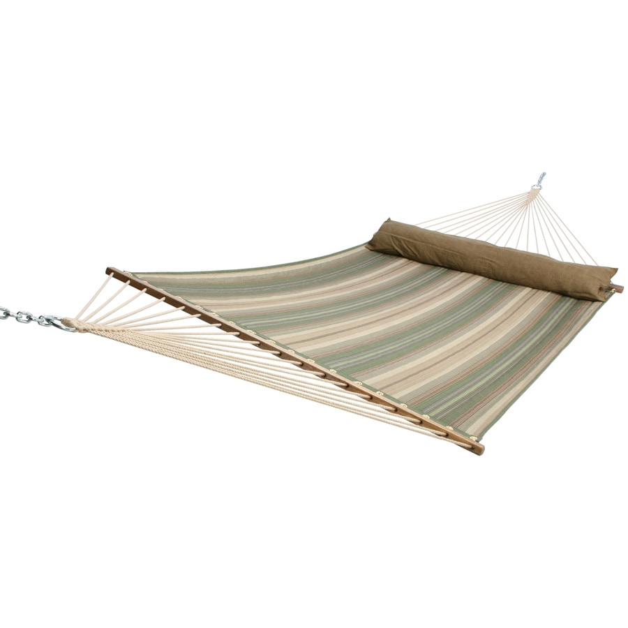 "allen + roth 82""L Polyester Stripe Quilted Hammock"