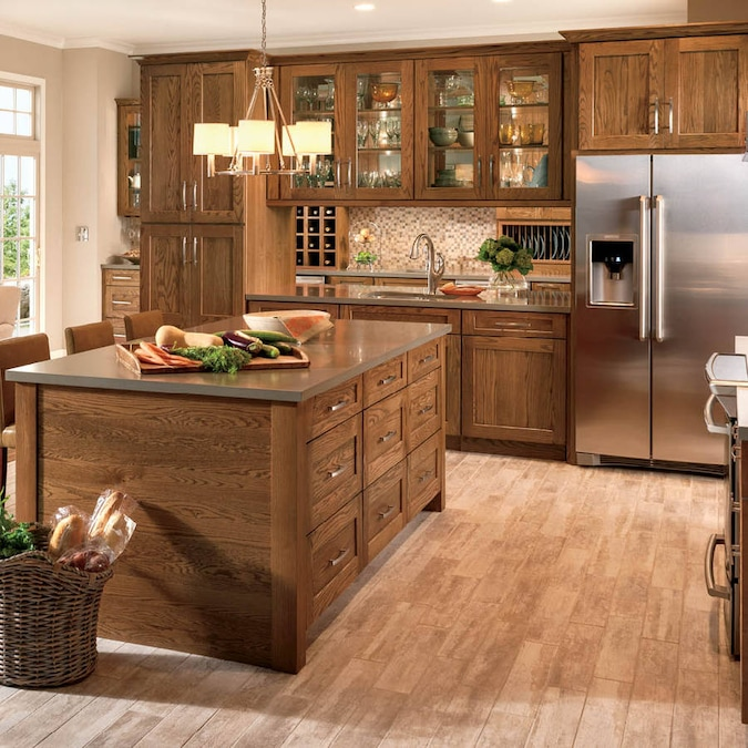 Shenandoah Mission 14.5625-in x 14.5-in Tawny Oak Shaker ...