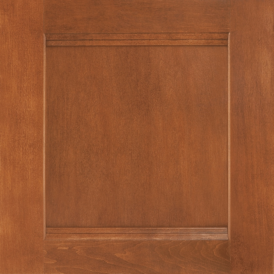 Shenandoah Solana 14.5-in x 14.5625-in Cognac Maple Square Cabinet Sample