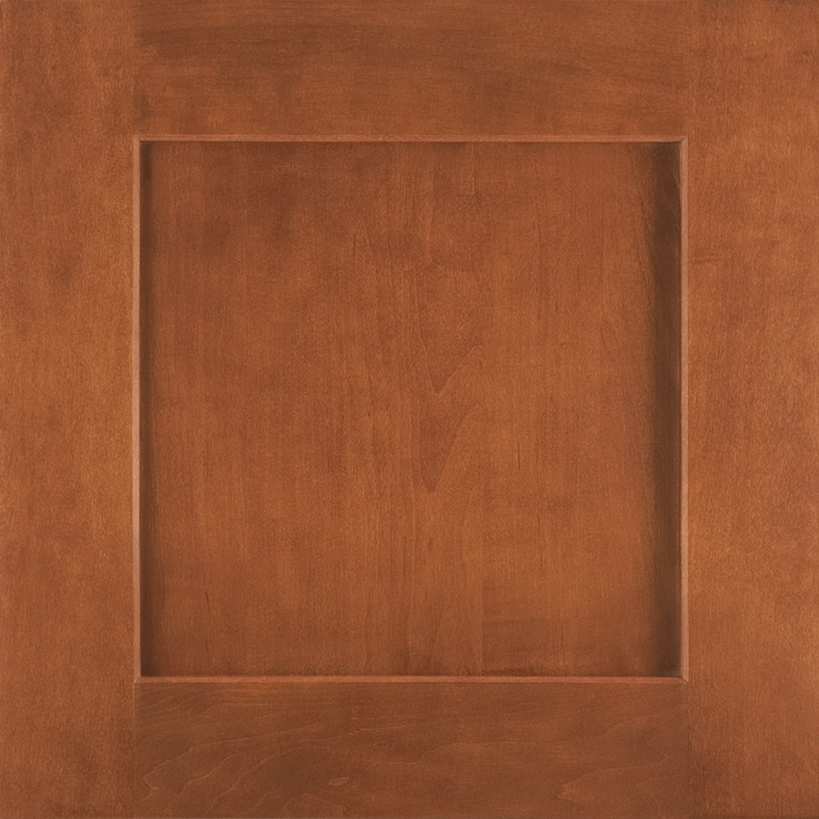 Shenandoah Mission 14.5-in x 14.5625-in Cognac Maple Square Cabinet Sample