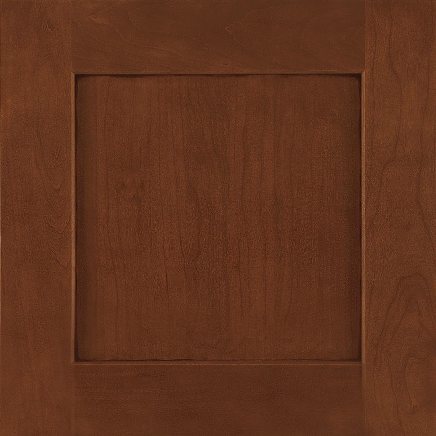 Shenandoah Mission 14.5-in x 14.5625-in Chocolate Glaze Stained Cherry Square Cabinet Sample