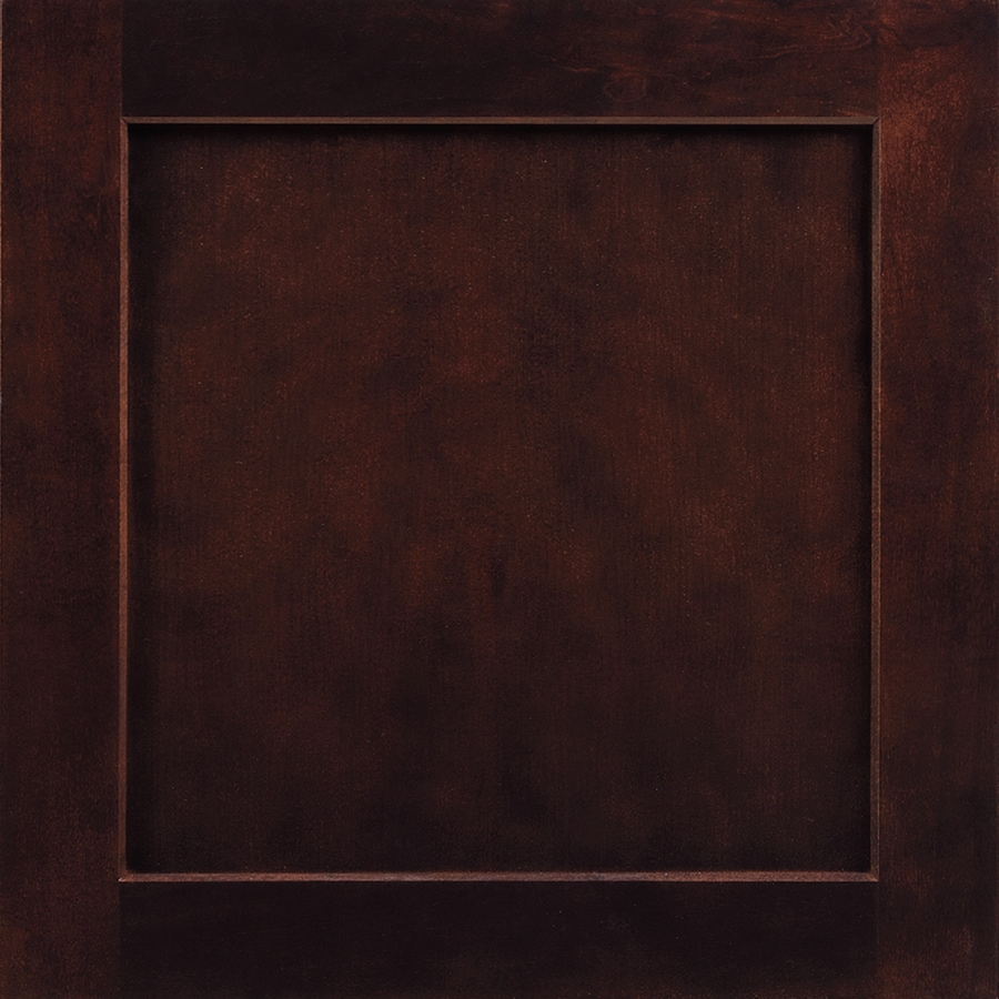 Shenandoah Breckenridge 14.5-in x 14.5625-in Java Stained Cherry Square Cabinet Sample