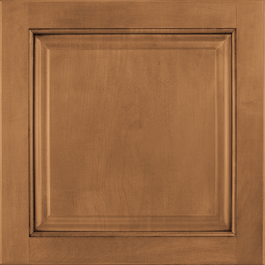 Shenandoah Orchard 14.5-in x 14.5625-in Mocha Glaze Maple Square Cabinet Sample