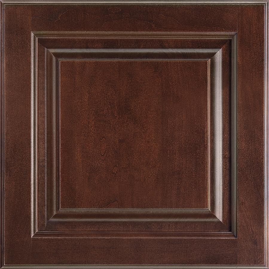 Shenandoah Grove 14.5-in x 14.5625-in Bordeaux Cherry Square Cabinet Sample