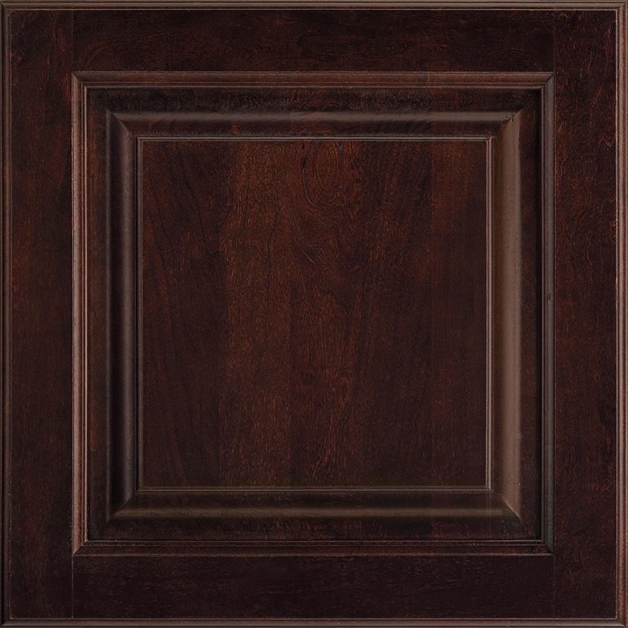 Shenandoah Grove 14.5-in x 14.5625-in Java Cherry Square Cabinet Sample