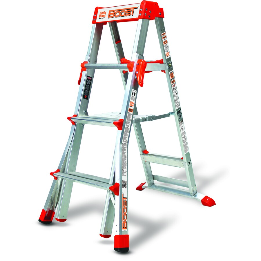 Shop Little Giant Ladders 6 Ft Aluminum 300 Lb Telescoping