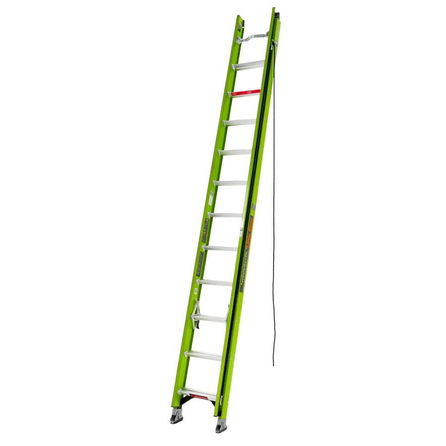 Little Giant Hyperlite 24 Ft Type Ia Fiberglass Extension Ladder In The Extension Ladders Department At Lowes Com