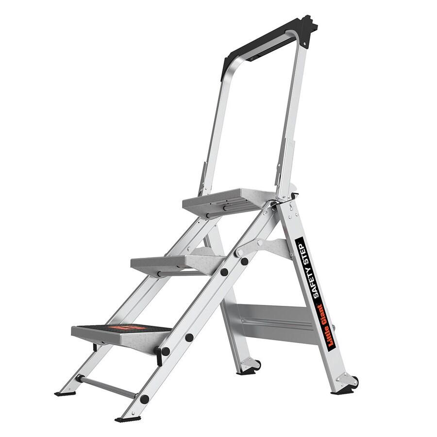 Shop Little Giant Ladders 2 2 Ft Aluminum 300 Lb Not Rated