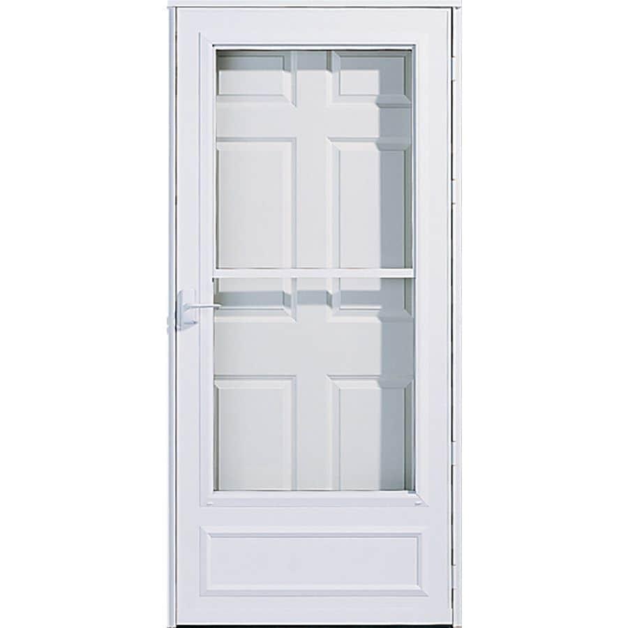 Pella White Mid-View Safety Retractable Screen Storm Door (Common: 32-in x 81-in; Actual: 31.75-in x 79.875-in)