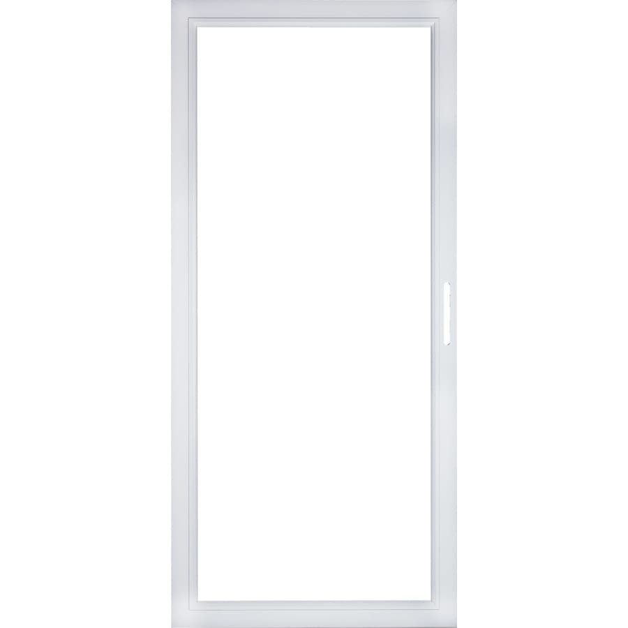 Shop pella select aluminum 36 in x 81 in storm door frame for Glass door frame