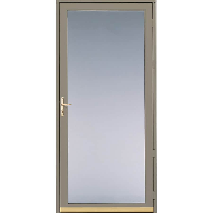 Shop pella putty full view safety aluminum glass and for Front door screen doors lowes