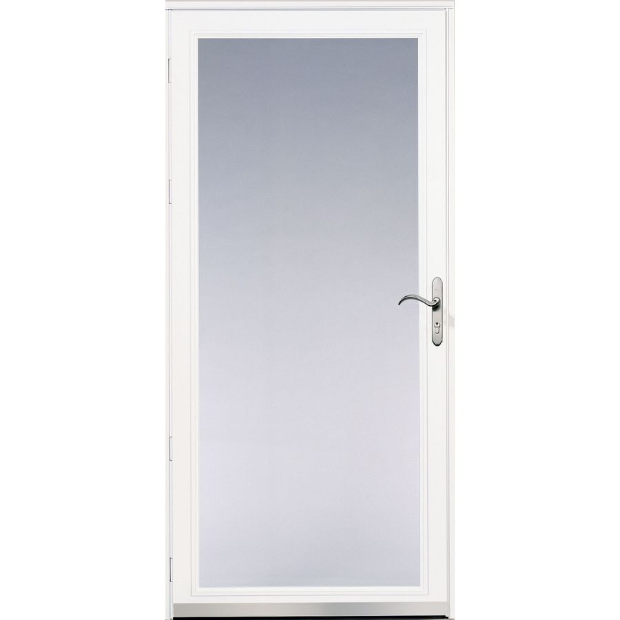 Pella Ashford White Full-View Safety Glass and Interchangeable Screen Storm Door (Common: 36-in x 81-in; Actual: 35.75-in x 79.875-in)
