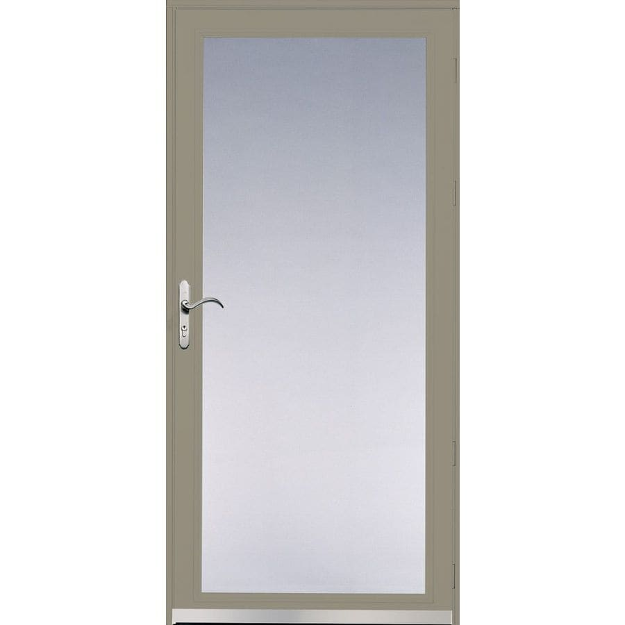 Pella Ashford Putty Full-View Safety Glass and Interchangeable Screen Storm Door (Common: 36-in x 81-in; Actual: 35.75-in x 79.875-in)
