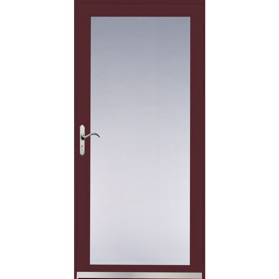 Pella Ashford Cranberry Full-View Safety Glass and Interchangeable Screen Storm Door (Common: 32-in x 81-in; Actual: 31.75-in x 79.875-in)