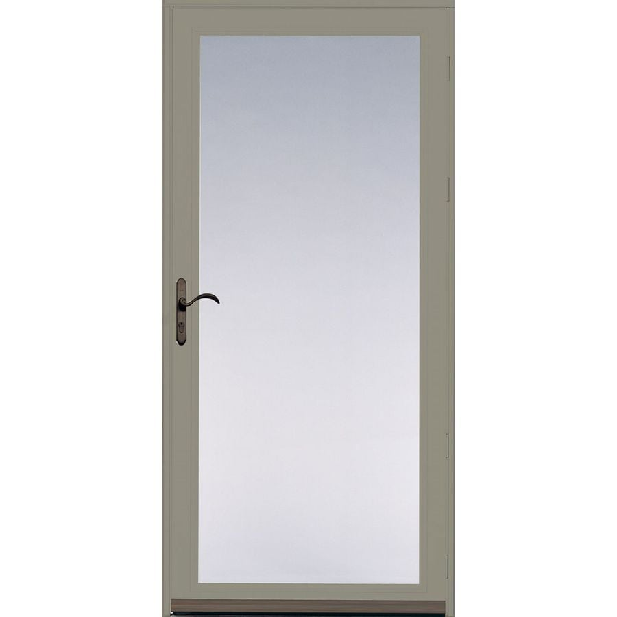 Shop pella ashford putty full view safety glass and for Glass screen door