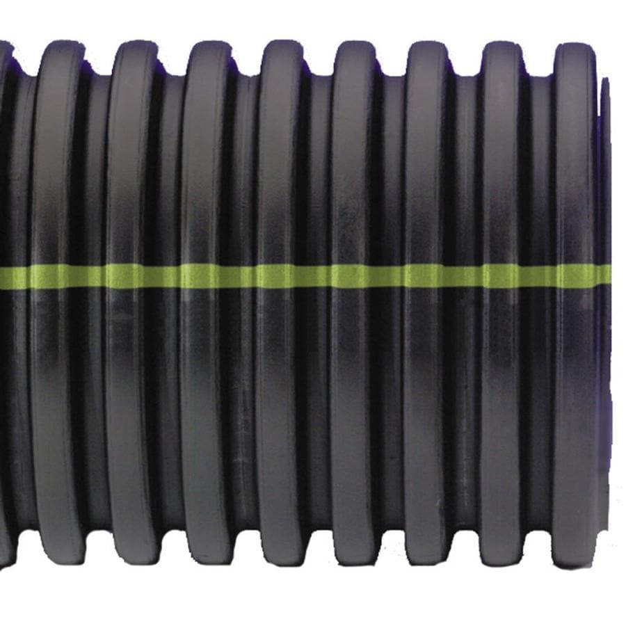 ADS 3-in x 10-ft Corrugated Solid Pipe