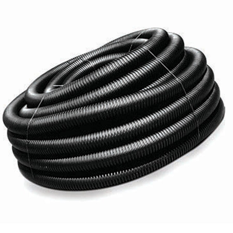 ADS 4-in x 50-ft Corrugated Solid Pipe