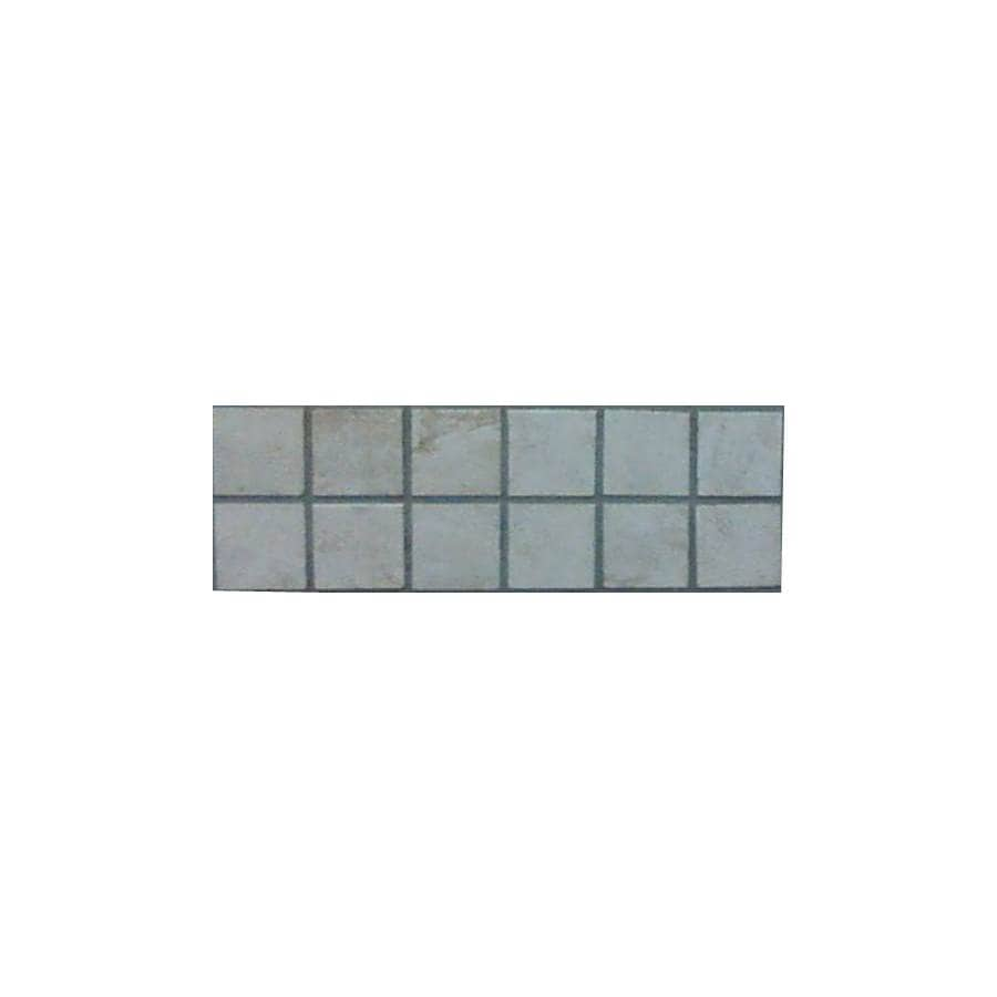 Surface Source 4-in x 12-in Ravello Beige Glazed Porcelain Mosaic Listello Tile