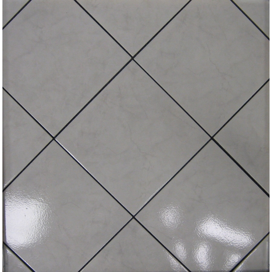 Surface Source Classic Marble Grey Glazed Porcelain Floor Tile (Common: 12-in x 12-in; Actual: 11.75-in x 11.75-in)