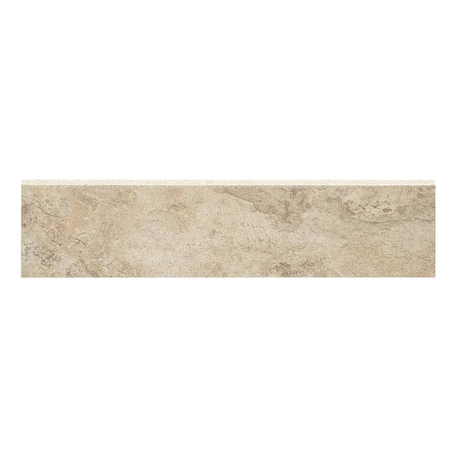 Style Selections Mesa Beige - Glazed Porcelain Porcelain Bullnose Tile (Common: 3-in x 12-in; Actual: 2.75-in x 11.75-in)