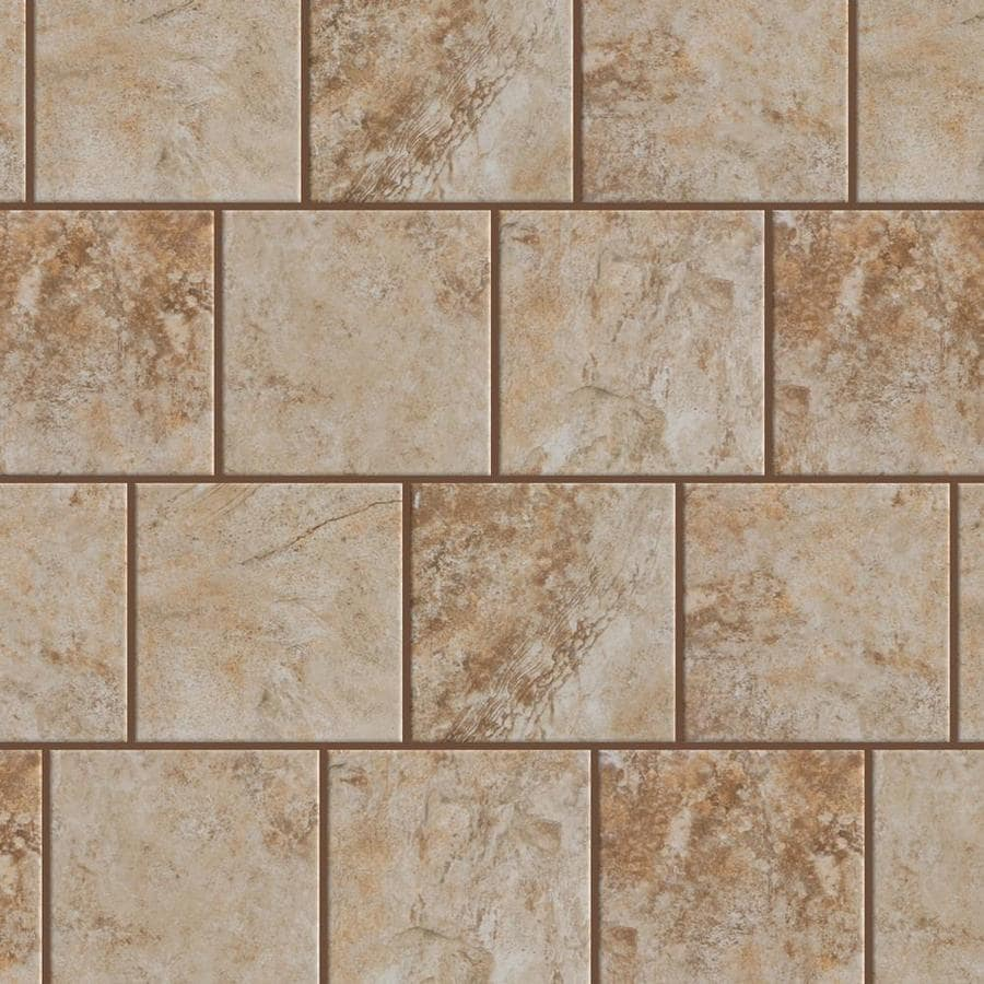Beige porcelain floor tiles