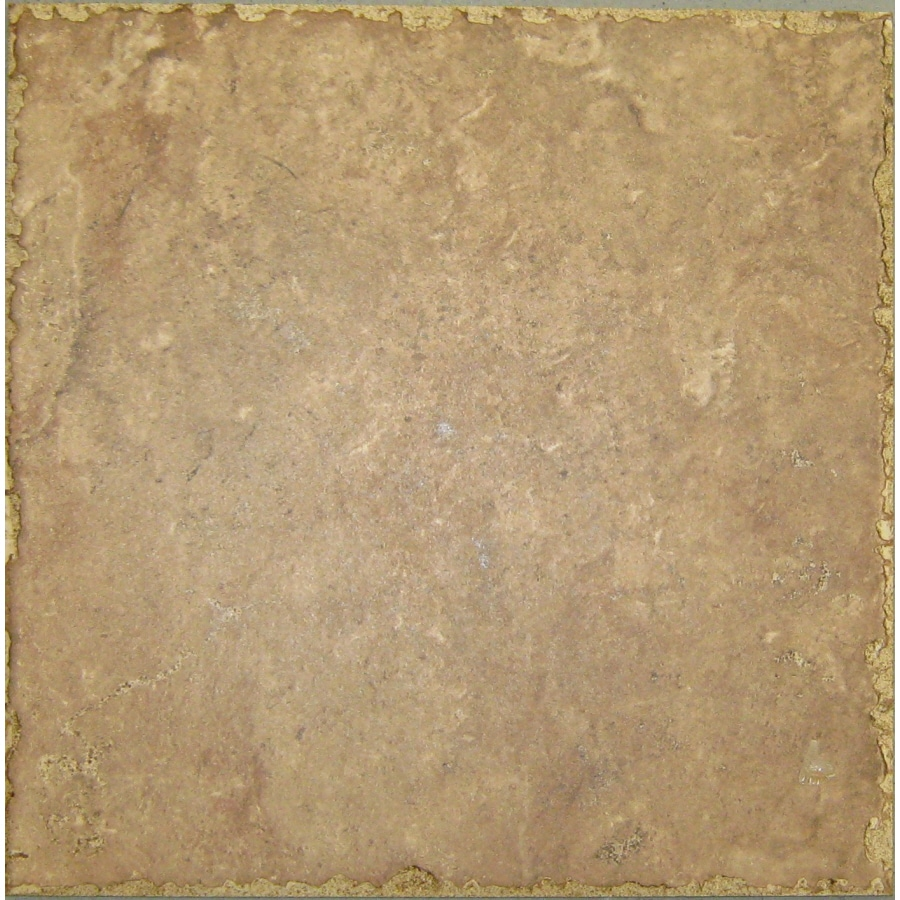 Style Selections 12-in x 12-in Cagliaria Walnut Glazed Porcelain Floor Tile (Actuals 12-in x 12-in)