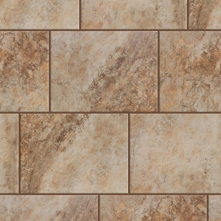 Shop Style Selections Mesa Beige Porcelain Floor And Wall Tile Common 9 In