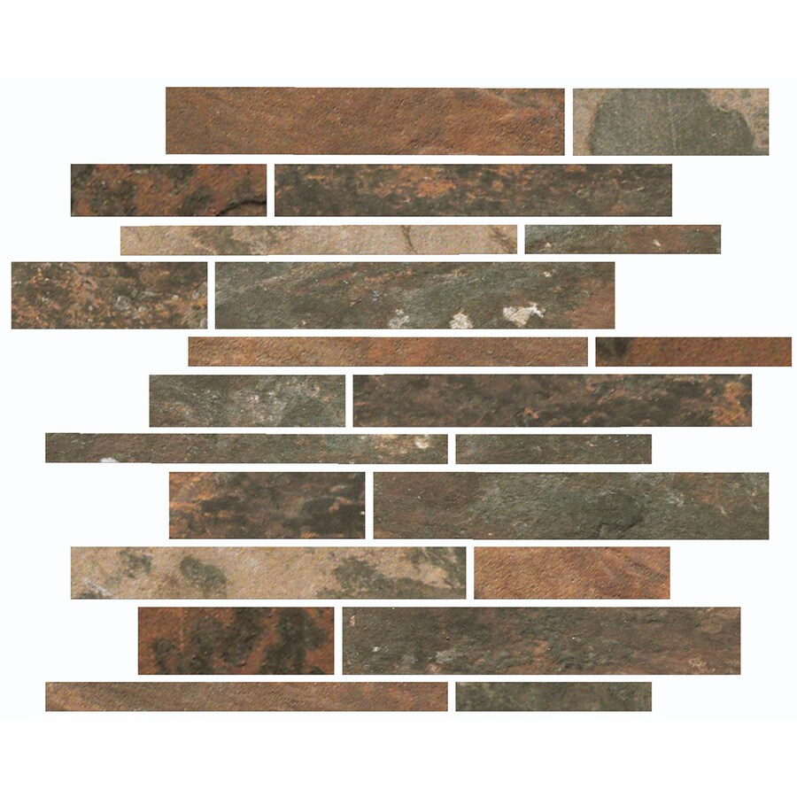 FLOORS 2000 Afrika Cape Town Linear Mosaic Porcelain Floor and Wall Tile (Common: 12-in x 12-in; Actual: 11.75-in x 11.75-in)