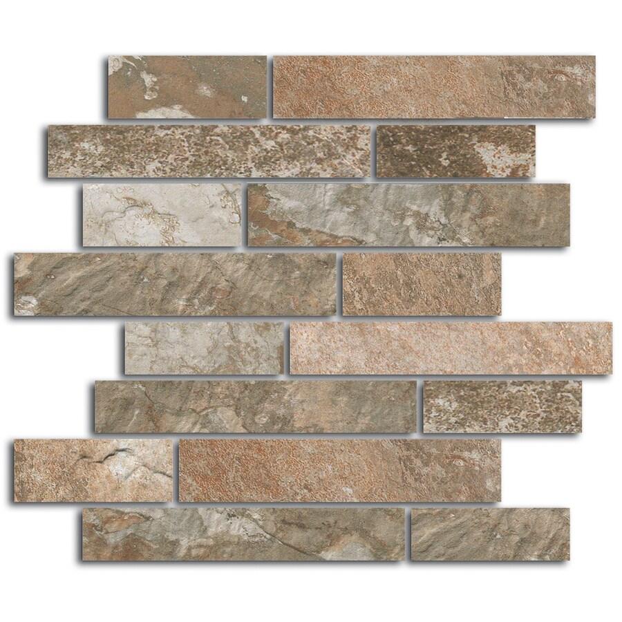 FLOORS 2000 Afrika Cairo Grey Random Mosaic Porcelain Floor Tile (Common: 12-in x 12-in; Actual: 11.75-in x 11.75-in)