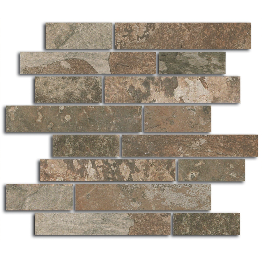 FLOORS 2000 Afrika Nairobi Linear Mosaic Porcelain Floor and Wall Tile (Common: 12-in x 12-in; Actual: 11.75-in x 11.75-in)