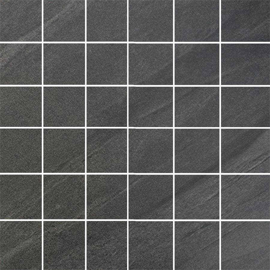 FLOORS 2000 Galaxy Nero Uniform Squares Mosaic Porcelain Floor and Wall Tile (Common: 12-in x 12-in; Actual: 11.75-in x 11.75-in)