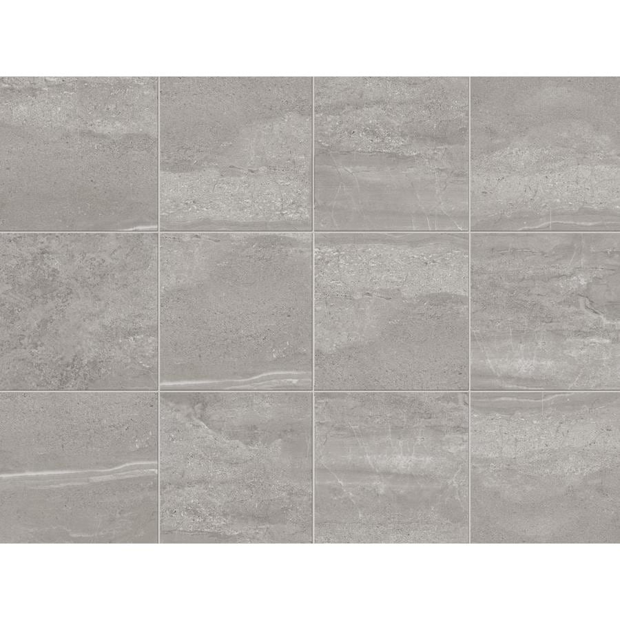 Style Selections Skyros Gray Porcelain Floor and Wall Tile (Common: 12-in x 12-in; Actual: 11.75-in x 11.75-in)