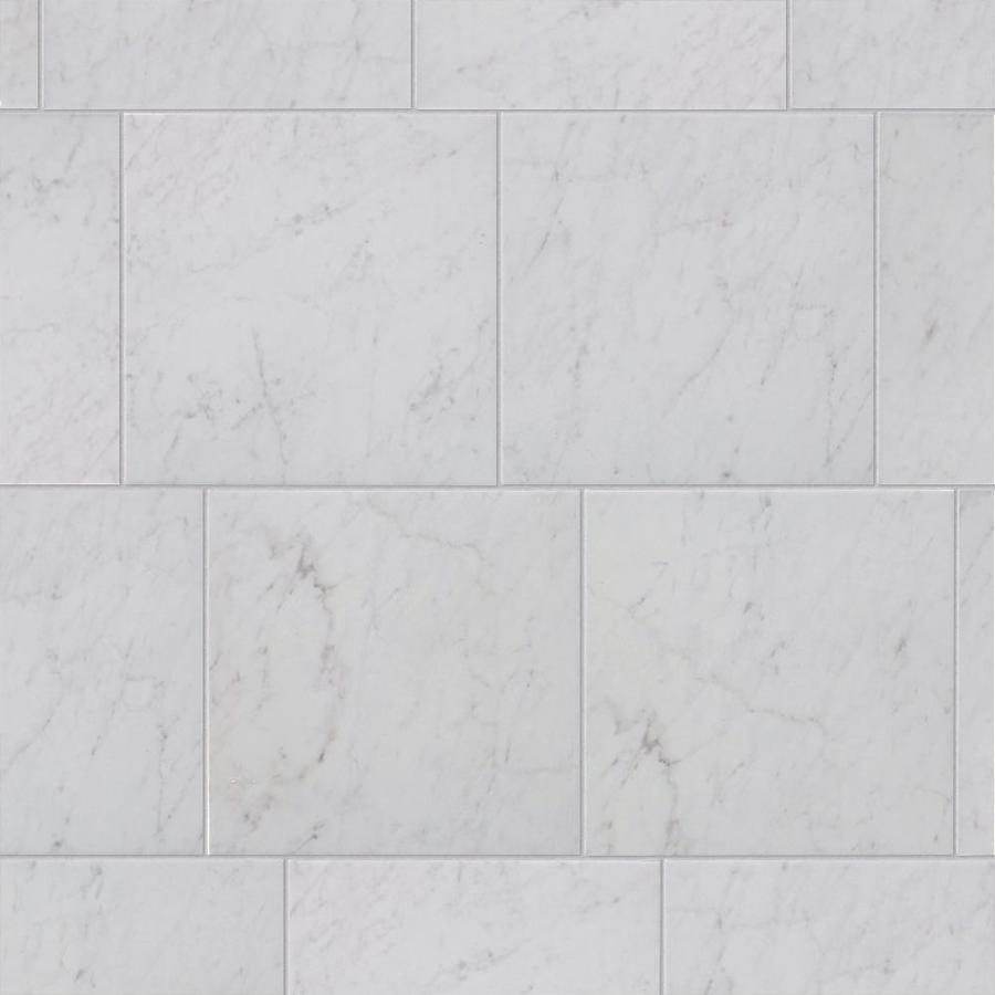 Style Selections Futuro White 12 In X 12 In Glazed Porcelain Marble Look Floor And Wall Tile In The Tile Department At Lowes Com