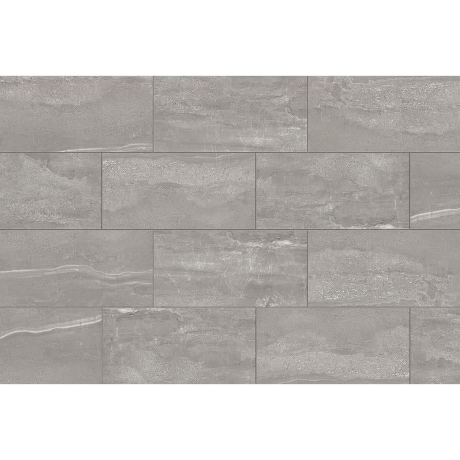 Style Selections Skyros Gray 4-in x 4-in Glazed Porcelain Floor and Wall  Tile