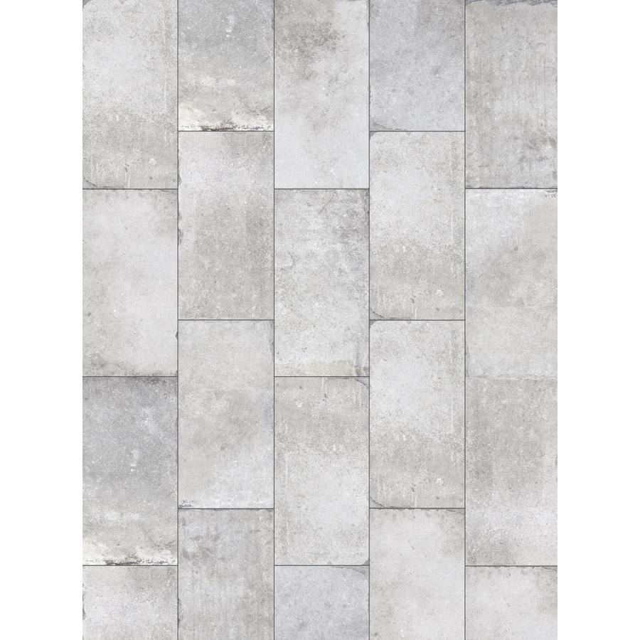 Style Selections Chatham Grey 6-in x 6-in Glazed Porcelain Tile