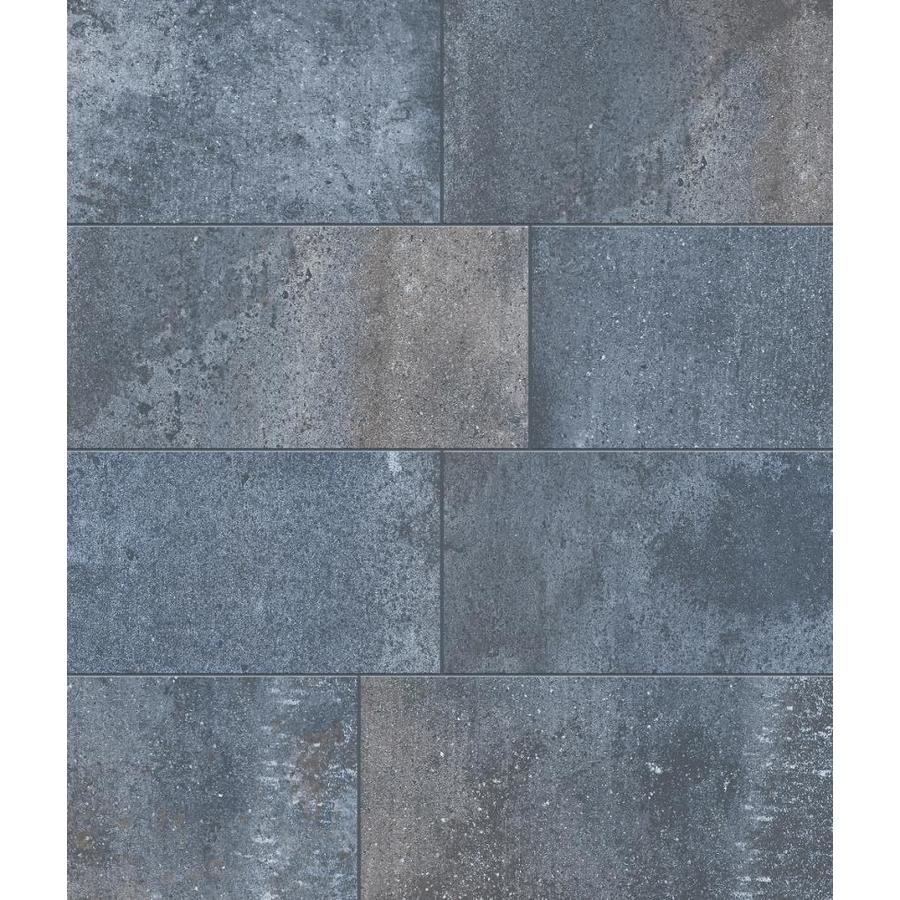 Style Selections Wexford Steel 7-in x 7-in Glazed Porcelain Tile