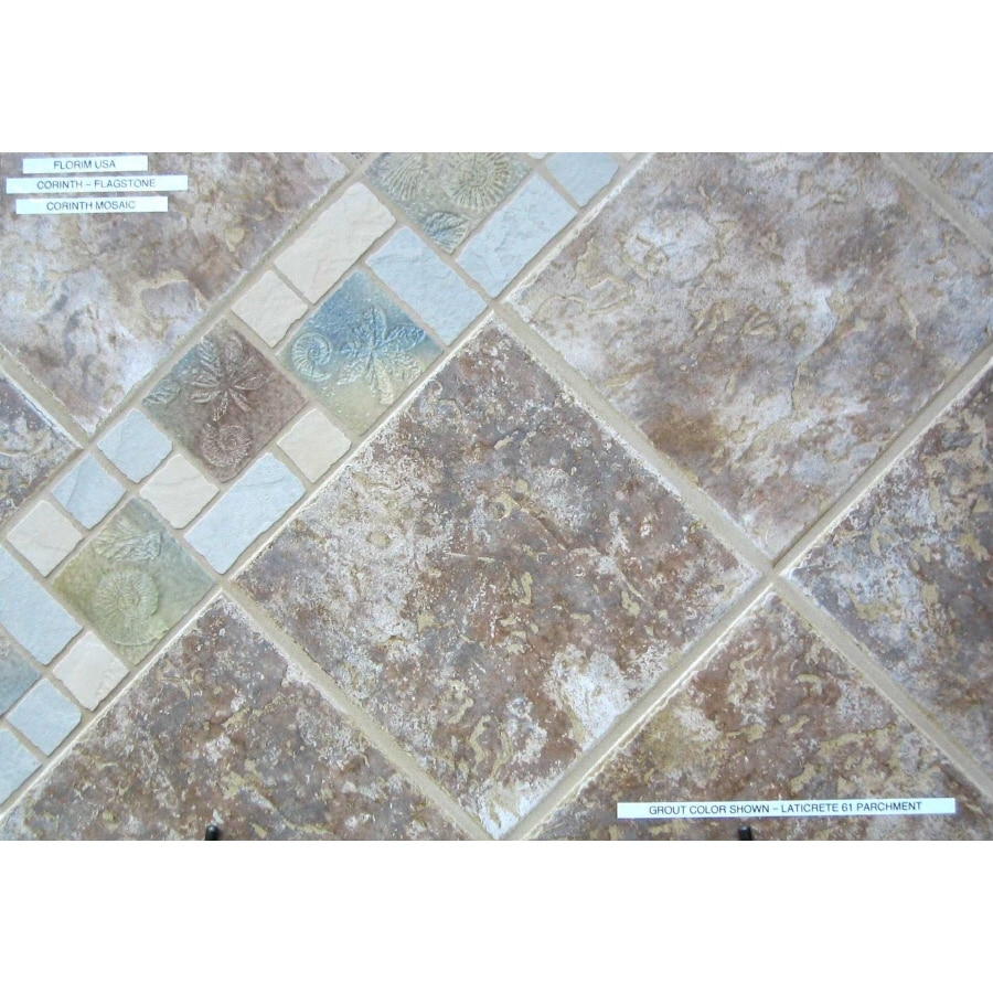 Surface Source 12-in x 12-in Corinth Flagstone Glazed Porcelain Floor Tile (Actuals 12-in x 12-in)